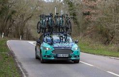 Технический автомобиль команды Bora-Hansgrohe - Париж-славное 2019 стоковое фото