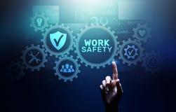 Технология страхования закона стандартов инструкции по безопасности работы промышленные и концепция регулировки иллюстрация вектора