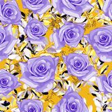 Systematic variation, design of roses, vector seamless pattern stock illustration