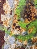 Тяжело рифленая зеленая текстура металла стоковое изображение