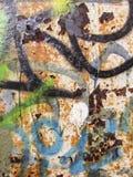 Тяжело рифленая зеленая текстура металла стоковые фотографии rf