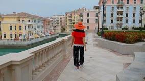 Туризм в Венеции Катаре сток-видео
