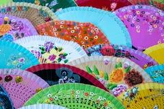 Традиционные испанские вентиляторы стоковые фотографии rf