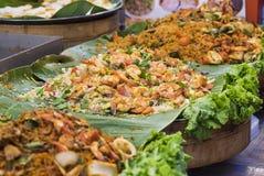 Традиционный продукт моря в улице Таиланда стоковое изображение