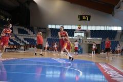 Тренировка команды женщин баскетбола Испании национальная в mallorca стоковое изображение