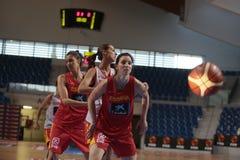 Тренировка команды женщин баскетбола Испании национальная стоковое фото rf