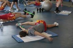 Тренировка команды женщин баскетбола Испании национальная на спортзале в mallorca стоковое фото rf