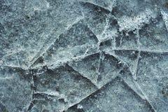 Треснутый голубой лед стоковые фотографии rf