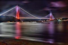 Третий мост и на Стамбуле стоковое фото