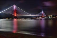 Третий мост и на Стамбуле стоковые фотографии rf