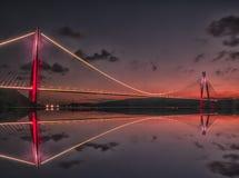 Третий мост и на Стамбуле стоковое изображение