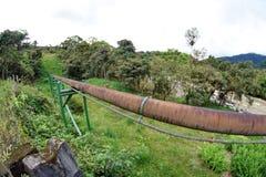 Трубопровод в джунглях стоковое фото