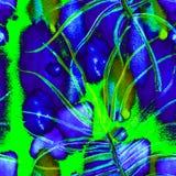 Тропическая зеленая безшовная картина бесплатная иллюстрация