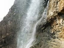 Waterfall in the Rocks Royalty Free Stock Images
