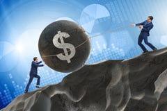 Торговая операция торговца в американском долларе стоковое фото