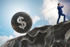 Торговая операция торговца в американском долларе стоковые фото