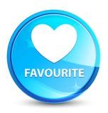 Фаворит (значок сердца) брызгает естественную голубую круглую кнопку иллюстрация штока