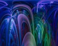 Фантазия фрактали скручиваемости абстрактной цифровой карты орнамента декоративная творческая, художественный, элегантность, дина иллюстрация штока