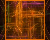 Фантазия фрактали скручиваемости абстрактной цифровой карты орнамента волшебная творческая, художественный, элегантность, динамик иллюстрация вектора