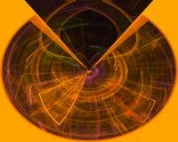 Фантазия фрактали скручиваемости карты абстрактного цифрового орнамента живая мягкая творческая, художественный, элегантность, иллюстрация вектора