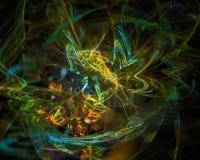 Фантазия фрактали скручиваемости кривой абстрактной цифровой карты орнамента волшебная творческая, художественный, элегантность,  иллюстрация штока