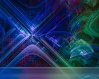 Фантазия фрактали скручиваемости шаблона абстрактного цифрового орнамента волшебная творческая, художественный, элегантность, дин иллюстрация вектора