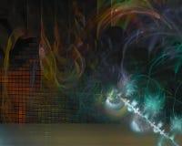 Фантазия фрактали скручиваемости шаблона конспекта цифровая волшебная творческая, художественный, элегантность, динамика иллюстрация вектора