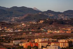 Фантастический вид над Ла Laguna с горой стоковые фото
