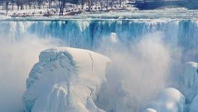 Фантастически красивый Ниагарский Водопад в зиме стоковое фото
