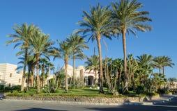 Фасад в Египте в курортной зоне Hurghada, залив гостиницы Makadi стоковая фотография rf