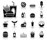 Фаст-фуд & напитки - Iconset - значки иллюстрация вектора