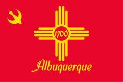 Флаг Альбукерке в Неш-Мексико, США иллюстрация штока