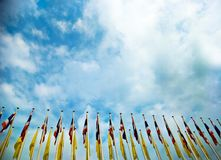 Флаг в фестивале стоковое фото