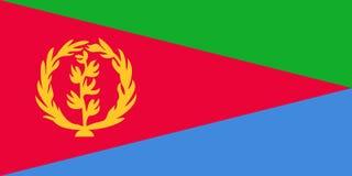 флаг eritrea иллюстрация вектора