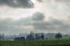 Фламандский ландшафт в зиме стоковое фото