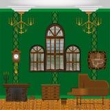 фура софы комнаты углового обеда нутряная живущая иллюстрация штока