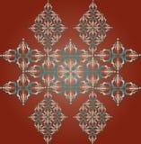 Фрагмент орнамента.Vector illustr. Sample of a symmetric ornament. Vector illustration.Vintage Stock Photo