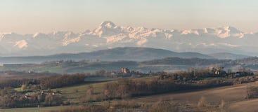 Французская панорама горы Pyrénées стоковая фотография