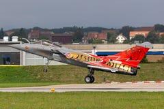 Французские истребительные авиации Armee De L'Air Дассо Rafale c военновоздушной силы multirole стоковые изображения