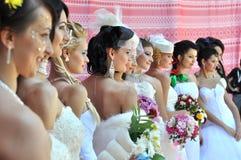 Фотомодели с красивым макияжем в стиле невесты стоковая фотография rf