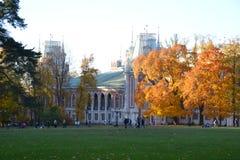 Tsaritsyno Park, autumn, palace, neo-gothic, Moscow stock photography