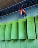 цветастая дом деревянная стоковые изображения rf
