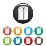Цвет чистых значков рубашек установленный иллюстрация штока