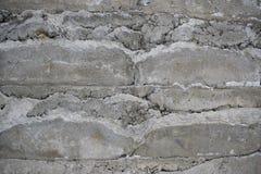 Цементная поверхность крупным планом. The cement surface with a large grey stones Stock Photo