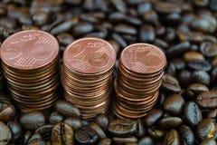 Цена кофе справедливой торговли стоковые изображения rf