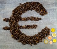 Цена кофе справедливой торговли стоковое изображение