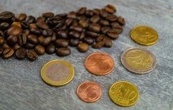 Цена кофе справедливой торговли стоковое фото rf