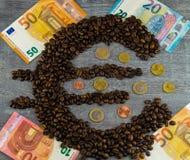 Цена кофе справедливой торговли стоковые изображения