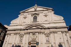 Церковь Gesu, Рим, Италия стоковое фото