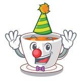 Чай мяты клоуна в чашке мультфильма иллюстрация штока